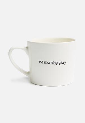 The morning glory stamped mug