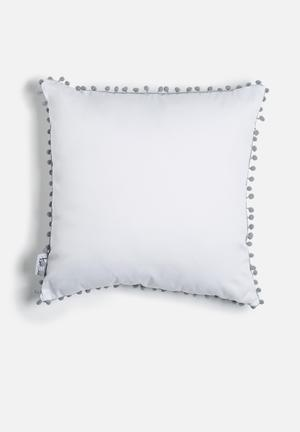 Pom pom scatter cushion