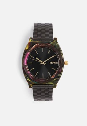 Nixon Time Teller Watches Black / Purple / Green