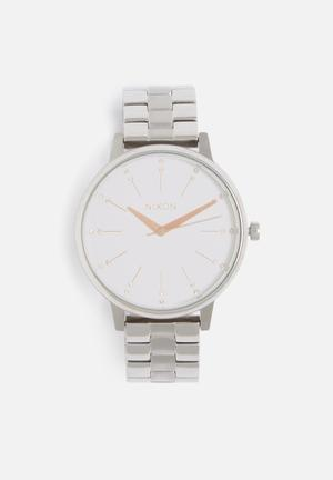 Nixon Kensington Watches Silver / Light Gold Crystal