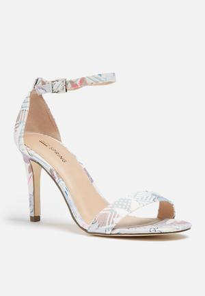 Call It Spring Ahlberg Heels White, Baby Blue & Pink