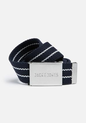 Jack & Jones Summer Stripe Belt Dark Navy