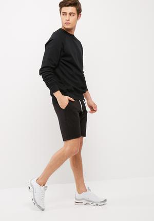 Only & Sons New Huxi Sweat Short Black