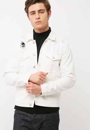 Only & Sons Mann Denim Trucker Jacket White
