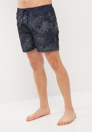 Only & Sons Tom Printed Swimshorts Swimwear Navy