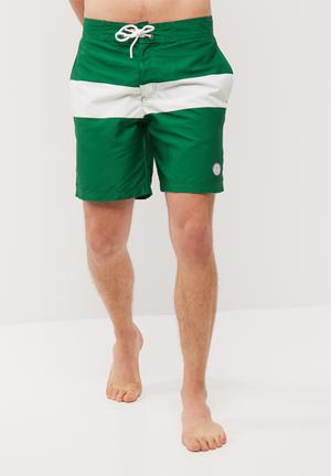 Jack & Jones Board Swimshort Swimwear Green & White