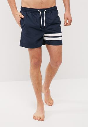 Jack & Jones Sunset Stripe Swimshort Swimwear Navy