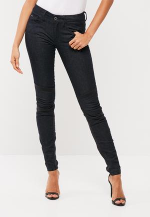 G-Star RAW Motac Deconstructed Mid Skinny Jeans Black