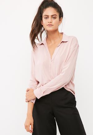 Dailyfriday Soft Long Sleeve Shirt Dusty Pink
