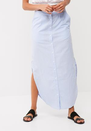Noisy May Alba Skirt Blue & White