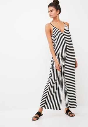 Irena oversize stripe jumpsuit
