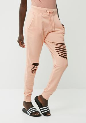 Ripped front joggers
