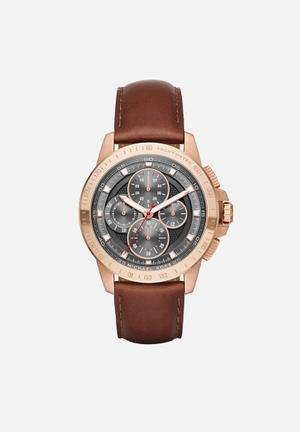 Michael Kors Ryker Watches Brown & Rose Gold