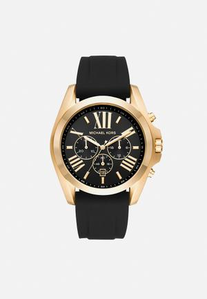 Michael Kors Bradshaw Watches Black & Gold