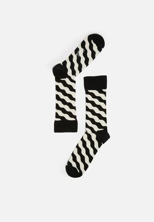 Wavy polka sock