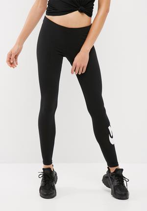 Nike Leg A See Logo Leggings Bottoms Black