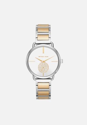 Michael Kors Portia Watches Gold & Silver