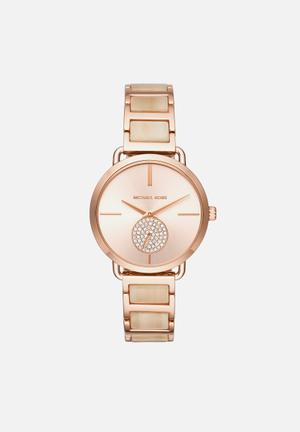 Michael Kors Portia Watches Rose Gold & Champagne