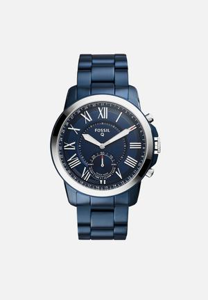 Fossil Q Grant Watches Blue