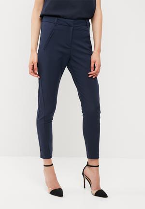 Vero Moda Victoria Antifit Ankle Pants Trousers Navy