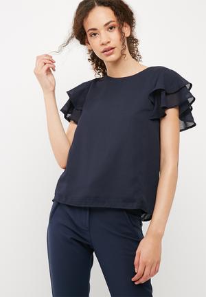 Vero Moda Mira Top T-Shirts, Vests & Camis Navy