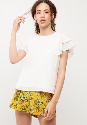 Vero Moda Mira Top T-Shirts, Vests & Camis White