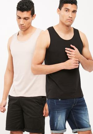 2pack basic slim fit vest