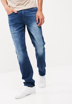 GUESS Slim Straight Denim Jeans Blue
