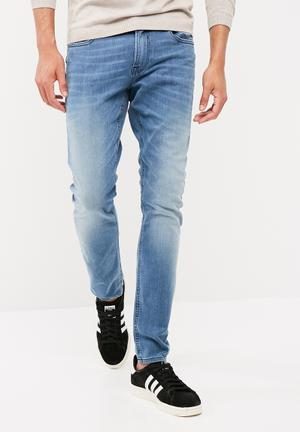 GUESS Super Skinny Denim Jeans Blue
