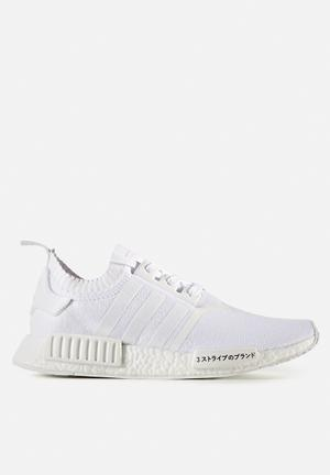 Adidas Originals NMD_R1 Primeknit Sneakers Triple White 'Japan Pack'