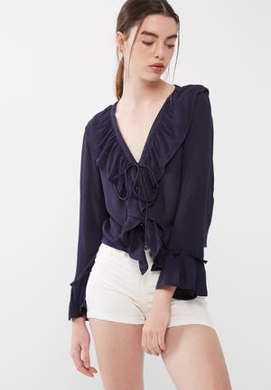 ONLY Marina Cropped Top T-Shirts, Vests & Camis Navy