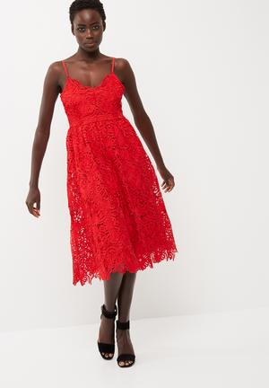 Y.A.S Selvia Dress Occasion Red