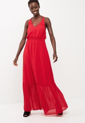 Y.A.S Eleta Maxi Dress Occasion Red