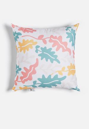 Sixth Floor Bloom Printed Cushion Cotton Twill