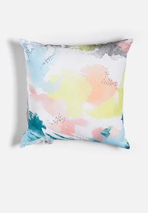 Hazey daze printed cushion