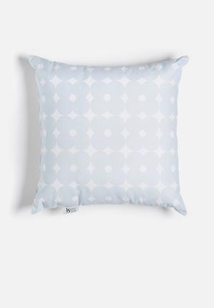 Sixth Floor Retro Daisy Printed Cushion Cotton Twill