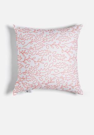 Sixth Floor Flourish Printed Cushion Cotton Twill