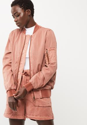 Vero Moda Zoe Tencel Bomber Jacket Dusty Brick