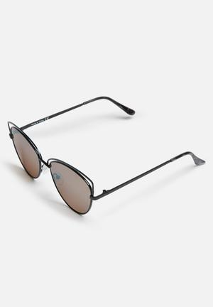 Missguided Cat Eye Reflective Lenses Sunglasses Eyewear Metal