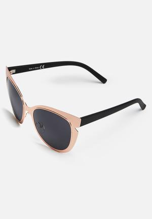 Missguided Cat Eye Contrast Sunglasses Eyewear Metal