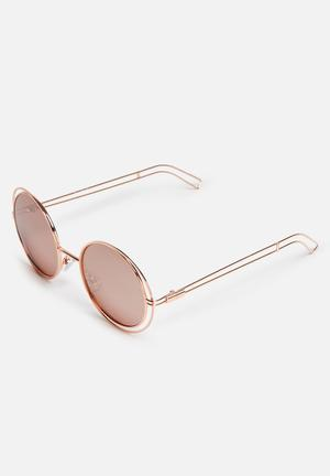 Missguided Metal Frame Round Sunglasses Eyewear Metal