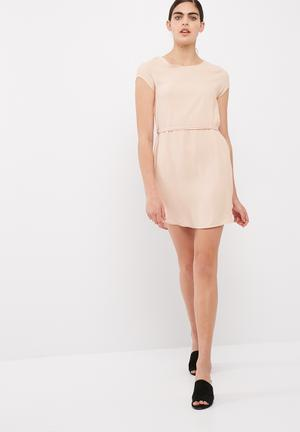 Dailyfriday Woven T-shirt Dress Formal Pale Pink