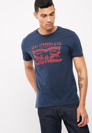 Levi's® Graphic Tee T-Shirts & Vests Navy