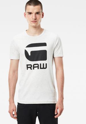 G-Star RAW Drillion Tee T-Shirts & Vests White & Black