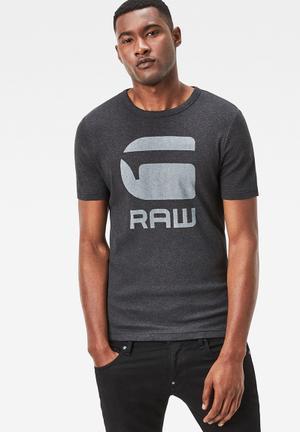 G-Star RAW Drillion Tee T-Shirts & Vests Black Melange