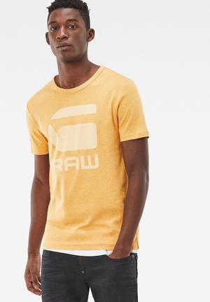 G-Star RAW Drillion Tee T-Shirts & Vests Yellow