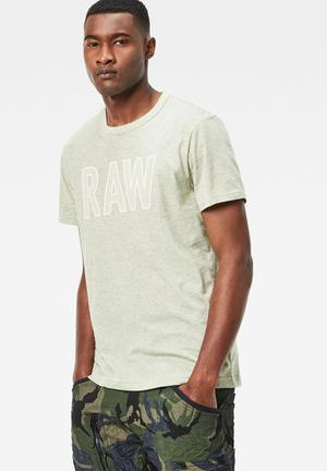G-Star RAW Tomeo Tee T-Shirts & Vests Light Green Melange