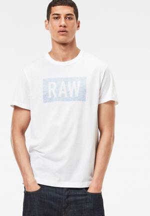 G-Star RAW Crostan Tee T-Shirts & Vests White Melange