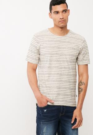 Only & Sons Sean Regular Fit Tee T-Shirts & Vests Beige & Blue