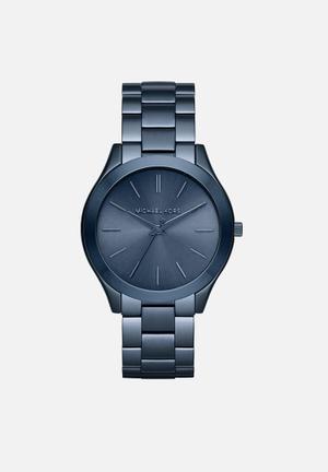 Michael Kors Slim Runway Watches Blue